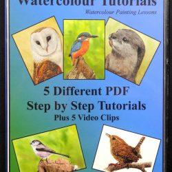 Step by Step Wildlife in Watercolor, PDF Tutorial CD