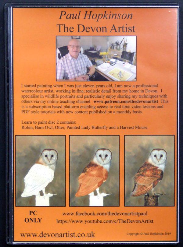 Watercolor painting tutorial cd on wildlife