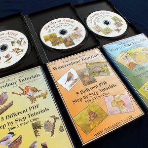 Watercolour wildlife painting tutorial cds