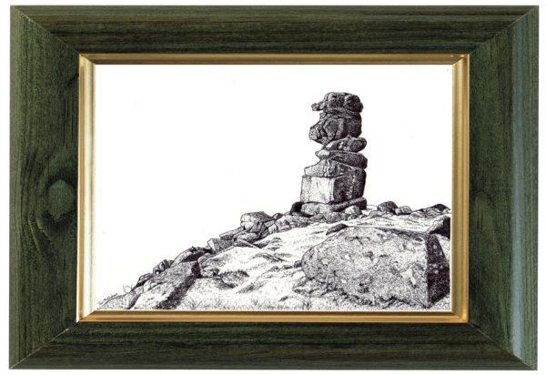 Bowerman's Nose, Dartmoor ink drawing by Paul Hopkinson