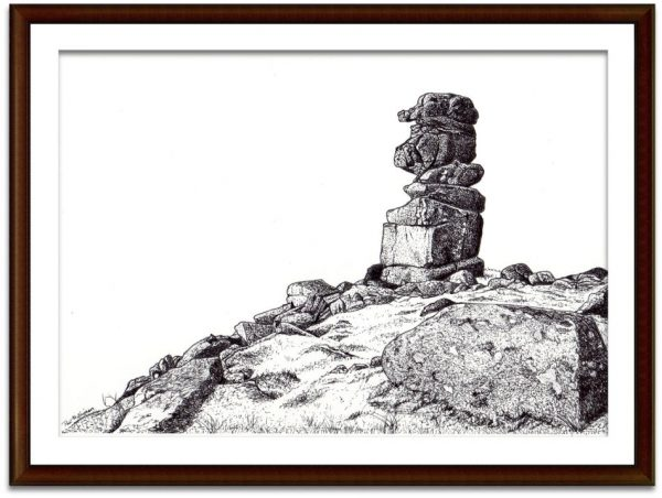 Bowerman's Nose, Dartmoor original drawing by Paul Hopkinson