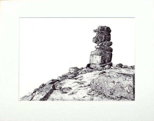 Dartmoor landscape pen & ink original drawing by Paul Hopkinson
