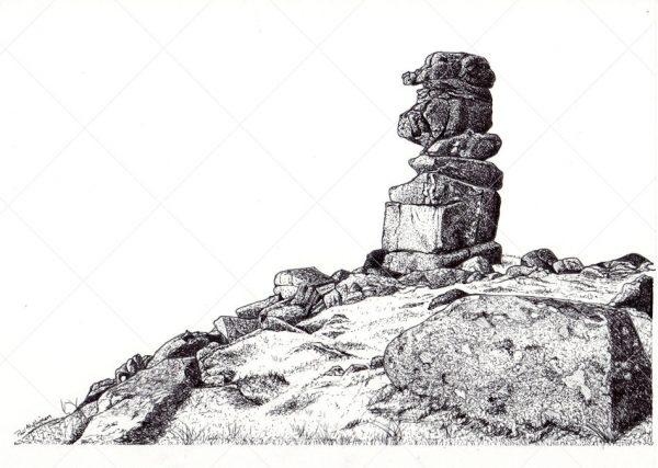 Dartmoor tor landscape pen & ink by Paul Hopkinson