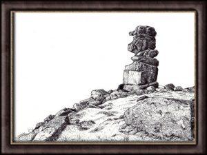Original Dartmoor ink drawing by Paul Hopkinson