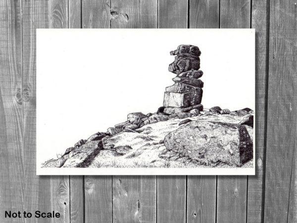 Pen & ink Darmoor landscape by The Devon Artist