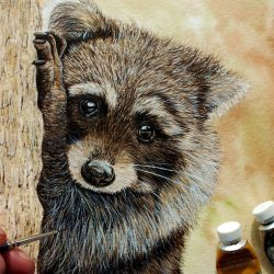 How to Paint Fur in Watercolor, Detailed Tutorial