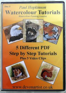 Learn to Paint Animals in Watercolor, Detailed PDF Tutorials
