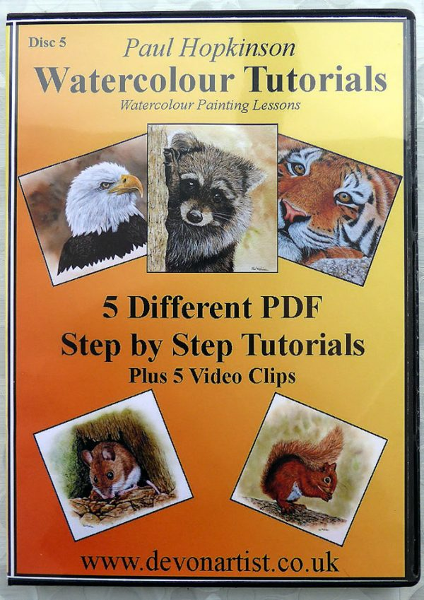 PDF watercolor painting lessons, realistic animals