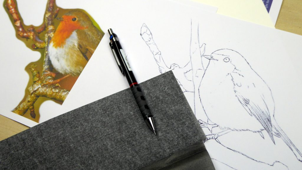 How to use graphite paper with watercolours