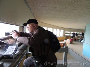 Paul Hopkinson taking bird photos at Slimbridge wetlands