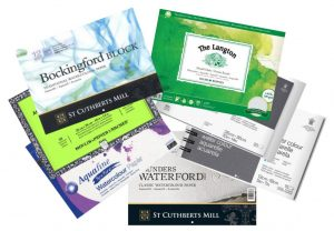 Different types of watercolor paper
