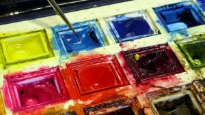 Watercolour pan paint properties