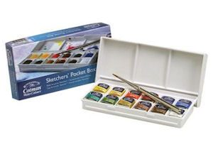 Materials I use or Recommend for Realistic Watercolour - Winsor and Newton Student Cotman Pans are great for beginners