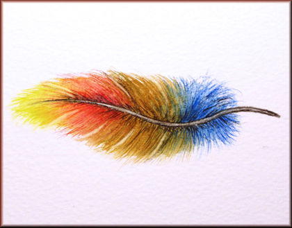 Button to all the videos linked to the Fun Feather watercolour tutorial