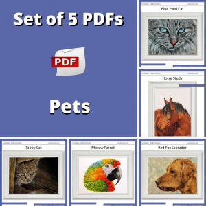 5 PDF watercolor tutorials on painting Pets
