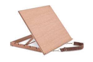 Adjustable wooden drawing board