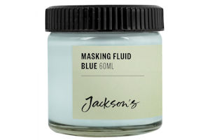 Blue Masking Fluid for watercolour wildlife paintings