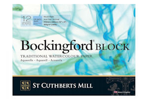 Bockingford Watercolour Block Pad as recommended by Paul Hopkinson