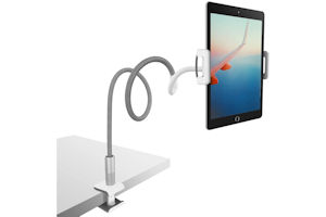 Tablet gooseneck holder as used by Paul Hopkinson