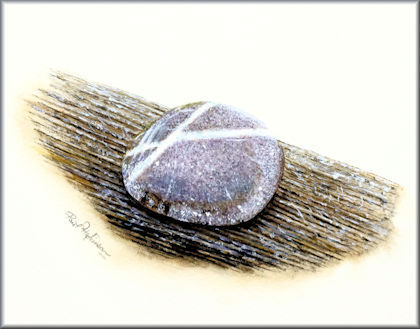 Button link to a stone watercolour video tutorial