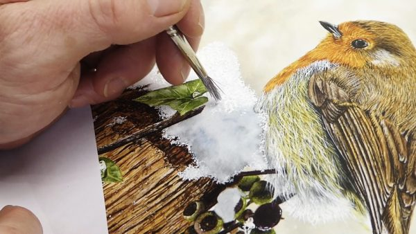 How to paint snow in watercolor step 4