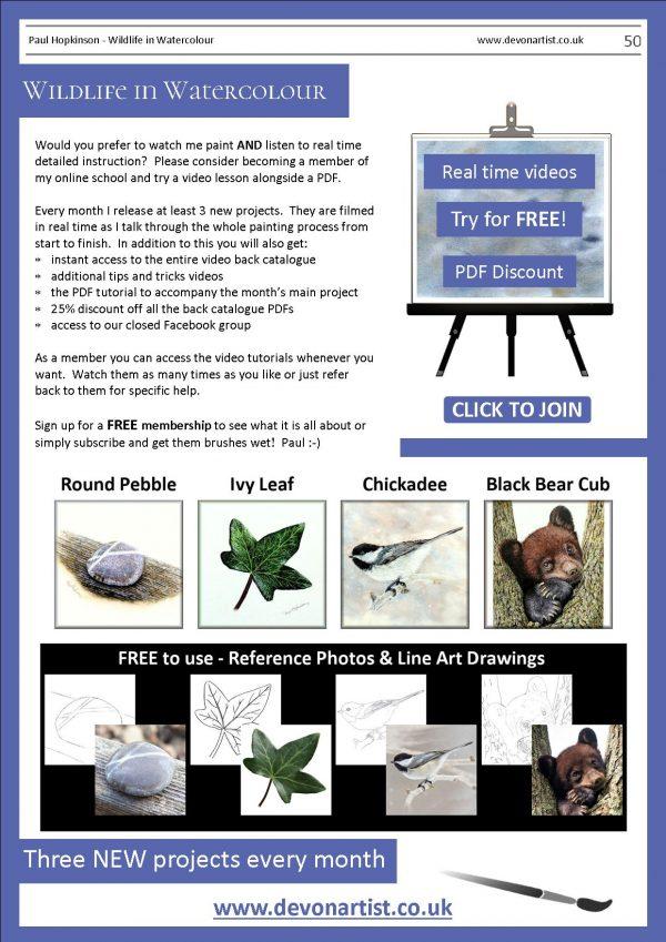 Online watercolour lessons by Paul Hopkinson