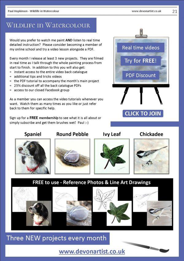 Paul Hopkinson botanical watercolor study PDF tutorials