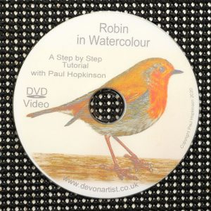 Robin watercolour DVD mis-printed disc