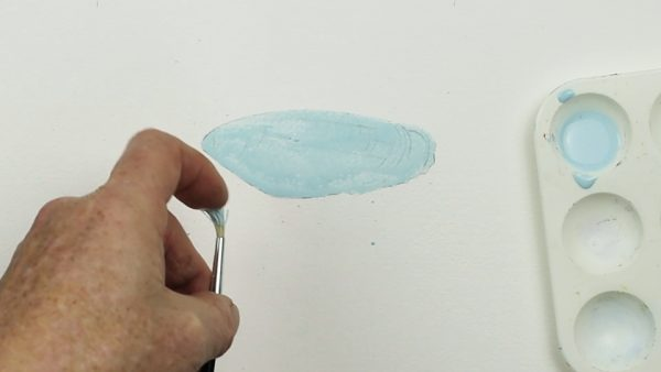Watercolor painting tutorial on how to paint beach shells step 1