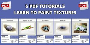 Watercolour Texture Painting Lessons, 5 PDFs Featuring 5 Different Textures