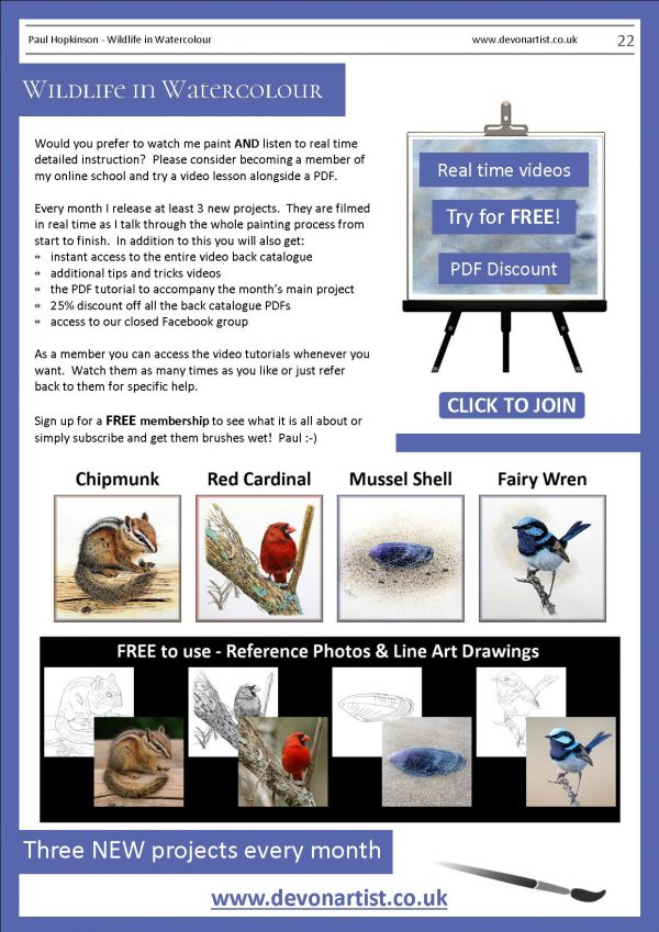 Other watercolour painting lessons written by Paul Hopkinson