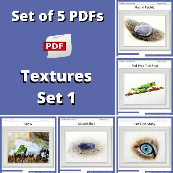 Set of PDF watercolor lessons how to paint textures realistically