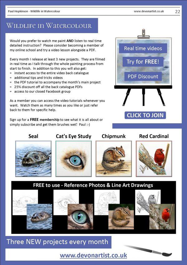 PDF watercolour tutorials by Paul Hopkinson