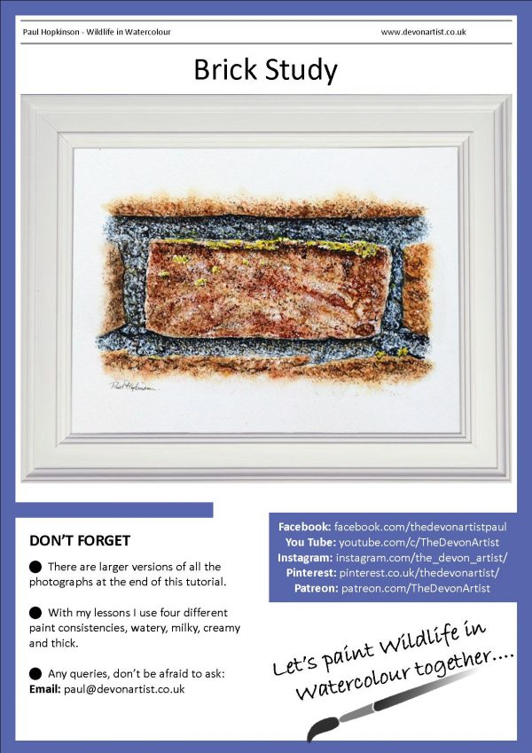 PDF on painting a brick study realistically in watercolor