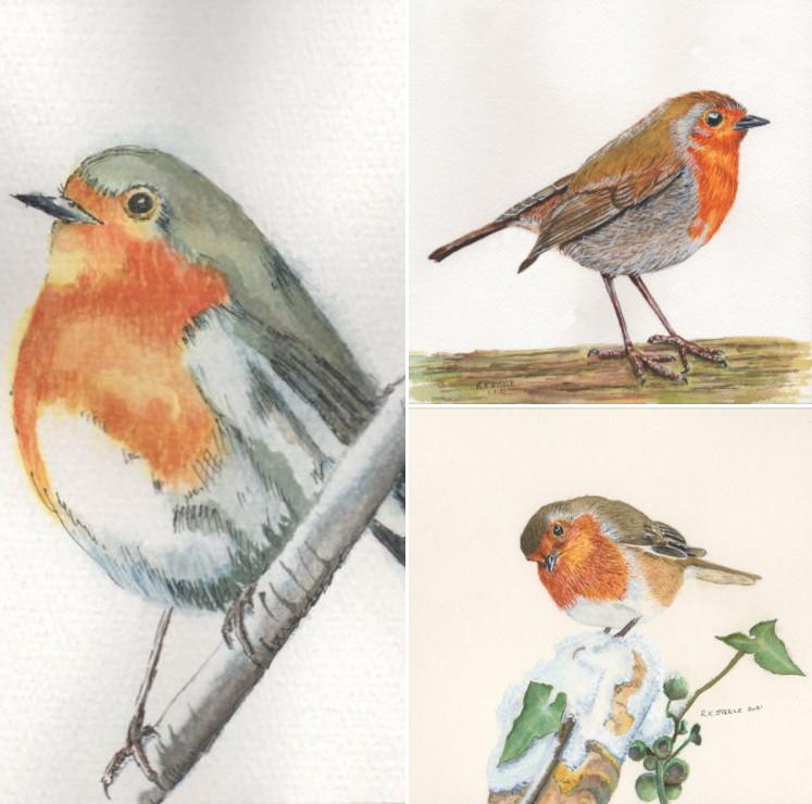 Member's progress within Paul Hopkinson's online watercolour school