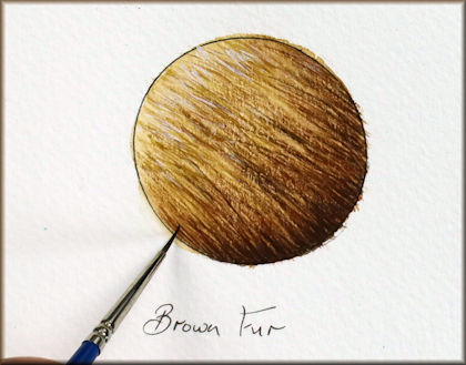 Button link to a brown fur watercolour video tutorial