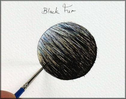 Button link to a black fur watercolour video tutorial