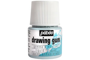 Pebeo latex free drawing gum, a good alternative to masking fluid