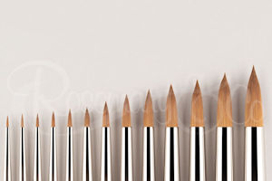 Red dot spotter series brushes by Rosemary & Co