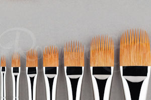 Series 2230 spiky golden synthetic comber brush by Rosemary & Co